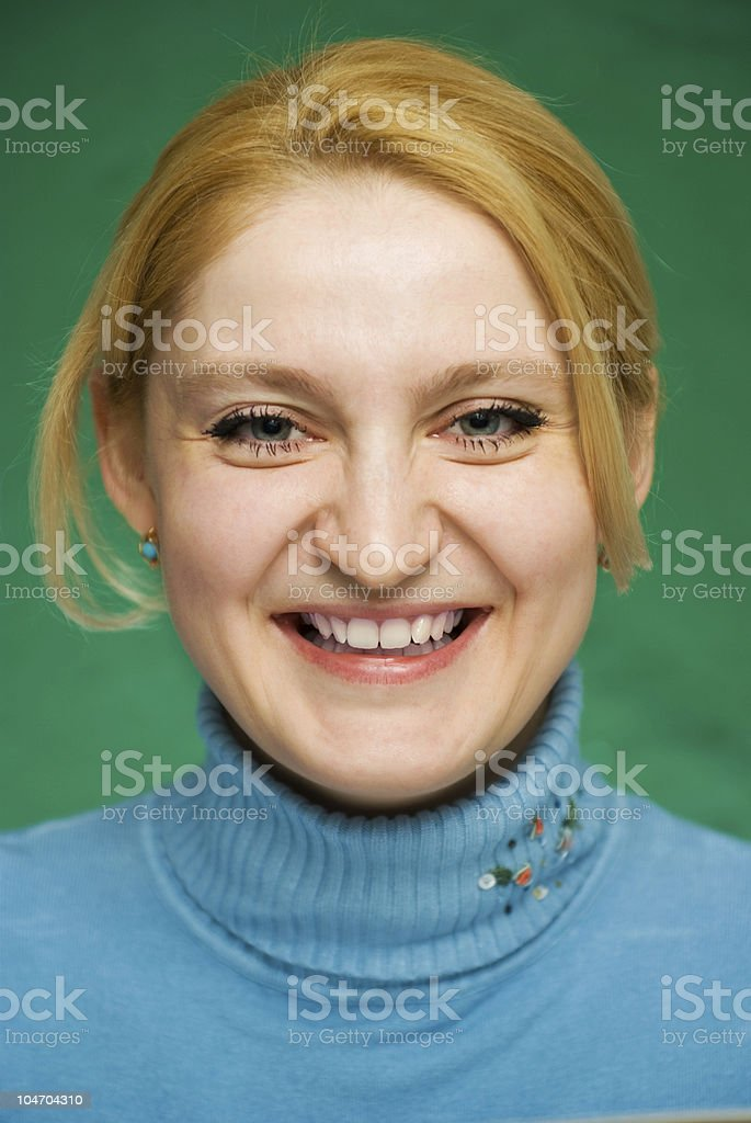 Close-up of young woman . stock photo