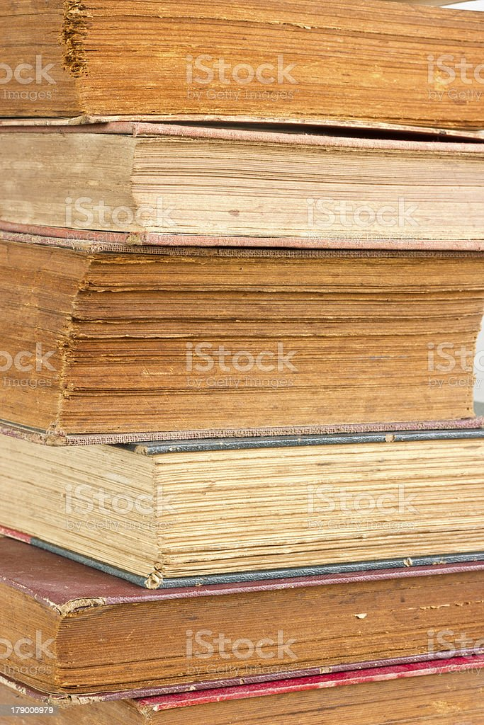 Closeup  old book pages texture. royalty-free stock photo
