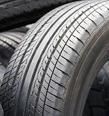Closeup old tires