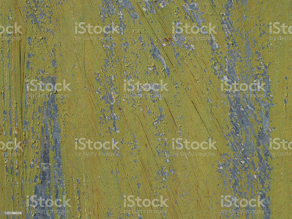 Closeup Olive Grunge Peeling Paint Background Texture royalty-free stock photo