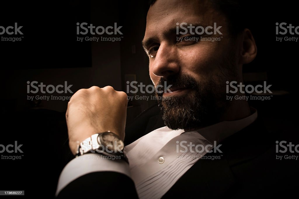 Closeup on a powerful man royalty-free stock photo