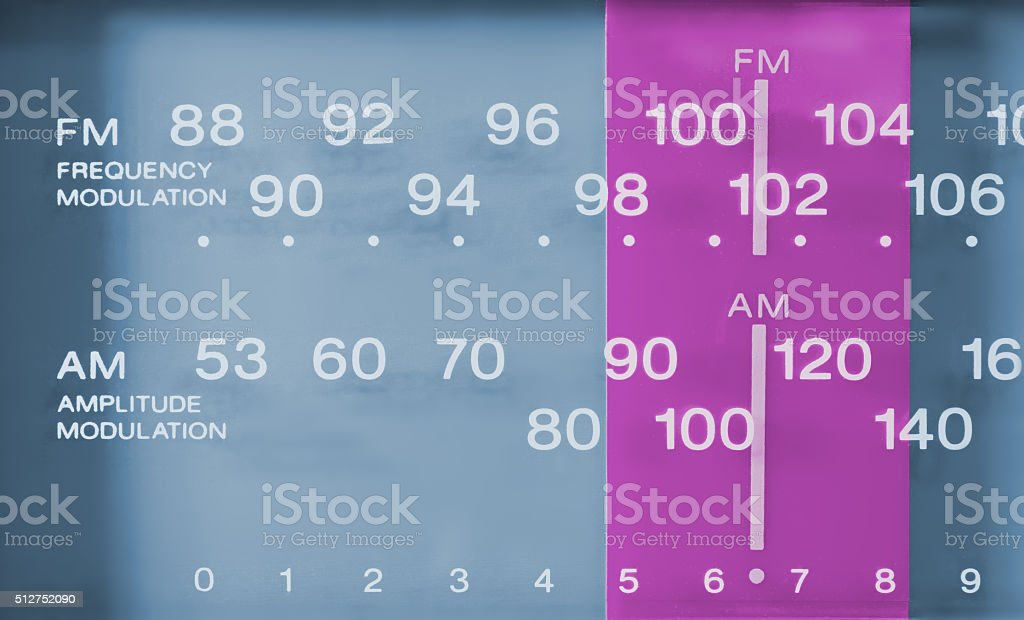 Closeup on a Radio FM-AM Tuner stock photo