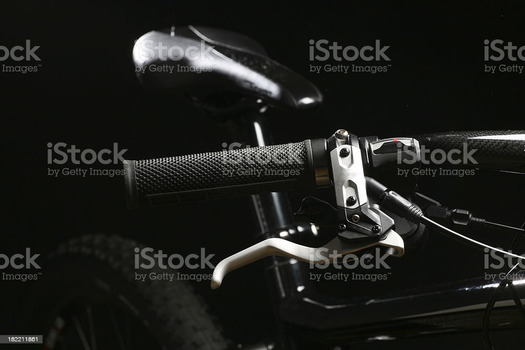 Close-up on bike royalty-free stock photo