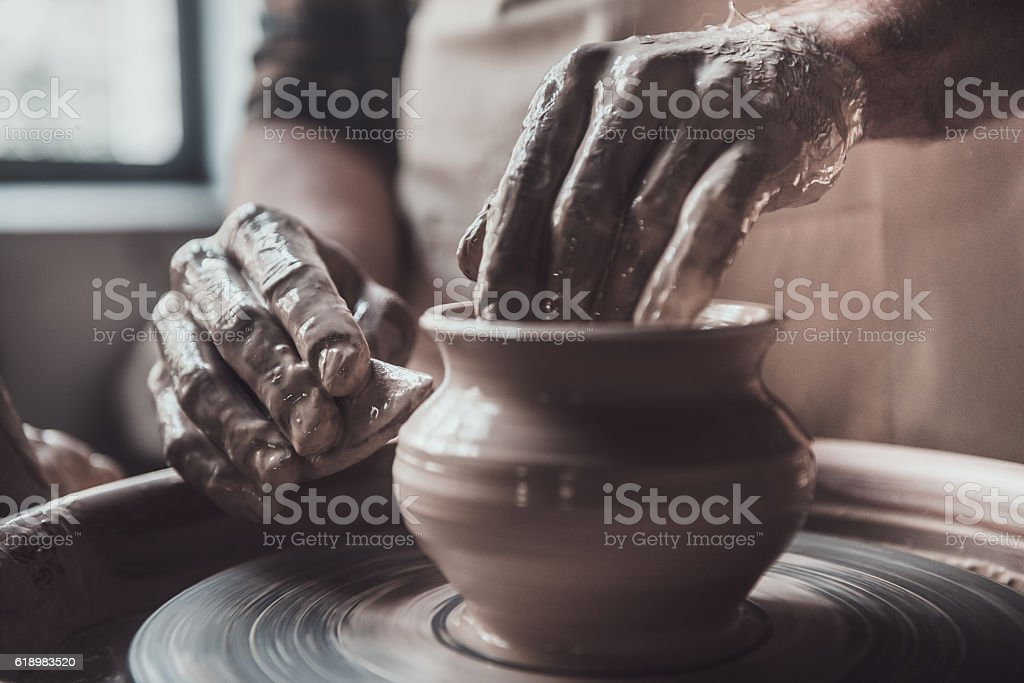 Close-up on creative work. stock photo