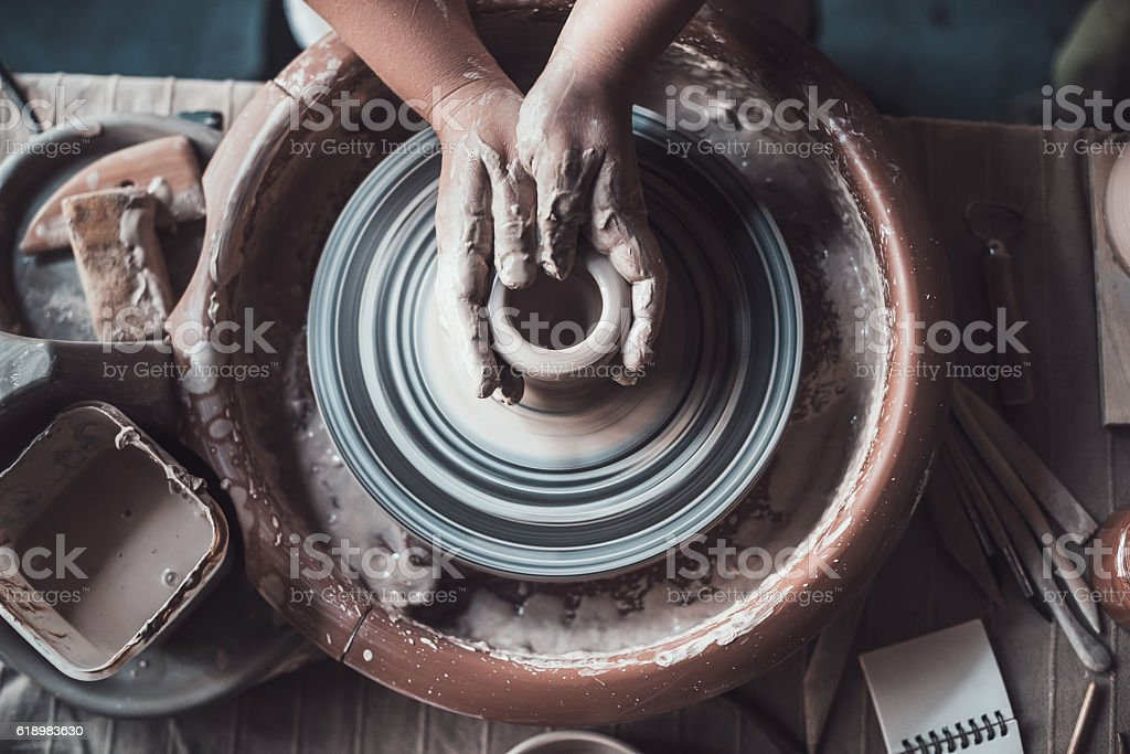 Close-up on creativity. stock photo