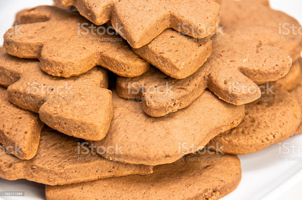 Closeup on homemade gingerbread cookies royalty-free stock photo