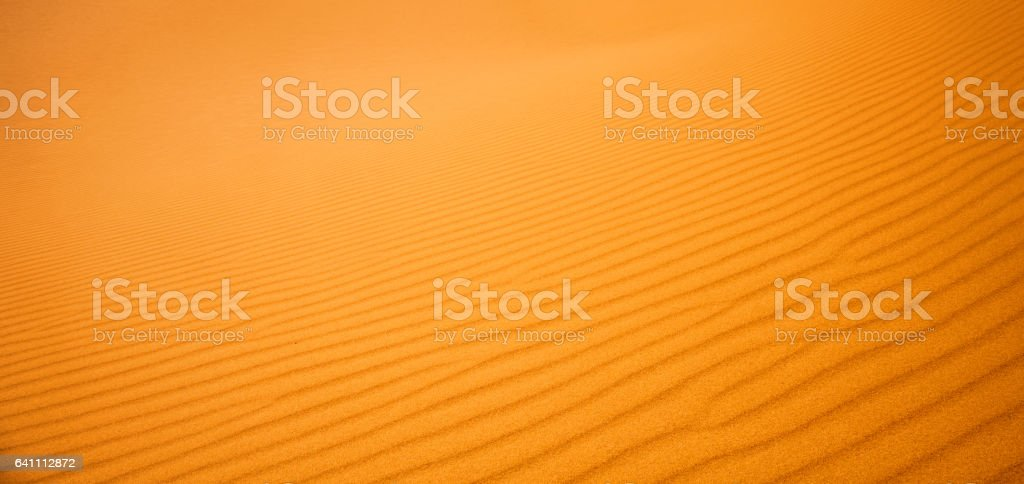 close-up on sands of the desert stock photo