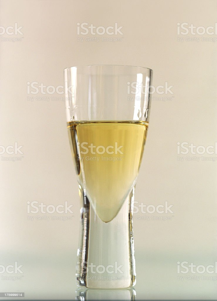 close-up on schnapps glass stock photo