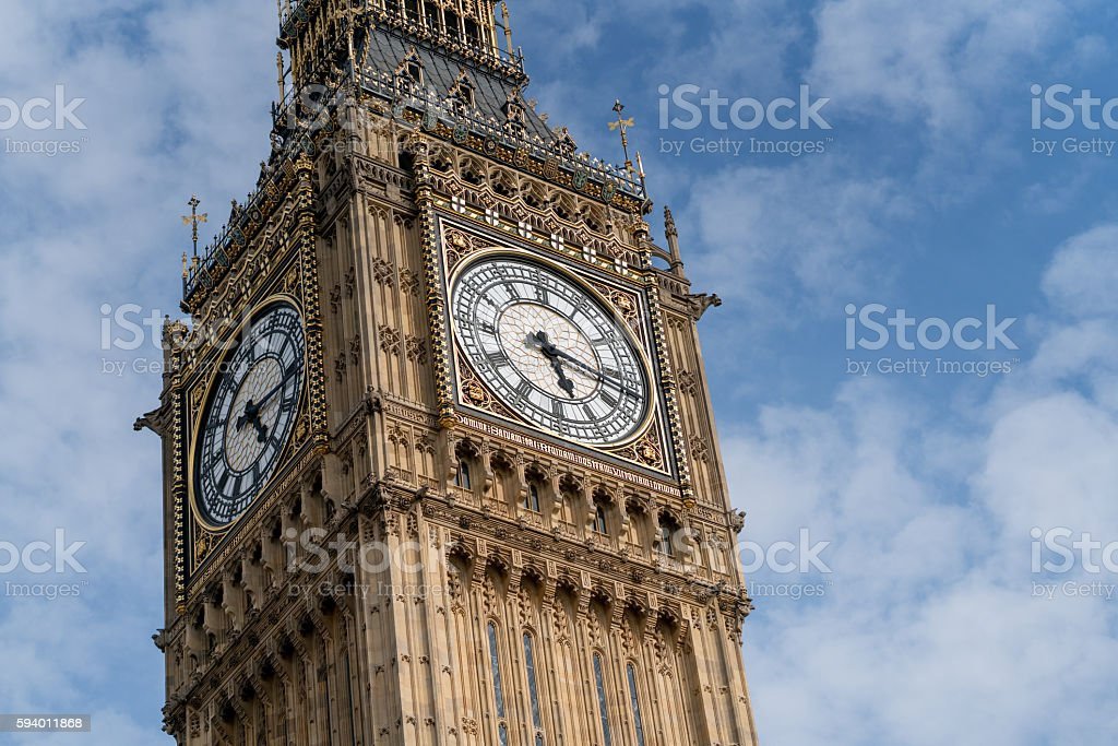 Close-up on the Big Ben stock photo