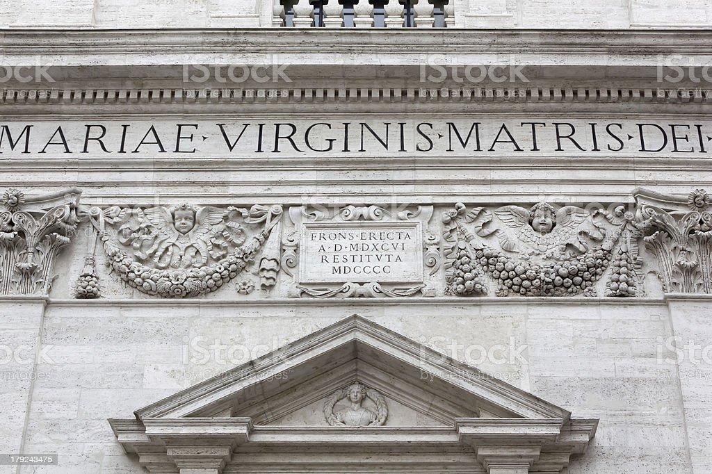 Closeup on the Facade of a 16th Century Church royalty-free stock photo