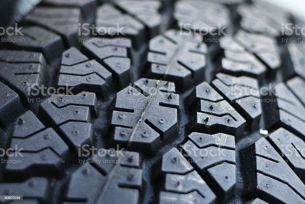 Closeup on treads royalty-free stock photo
