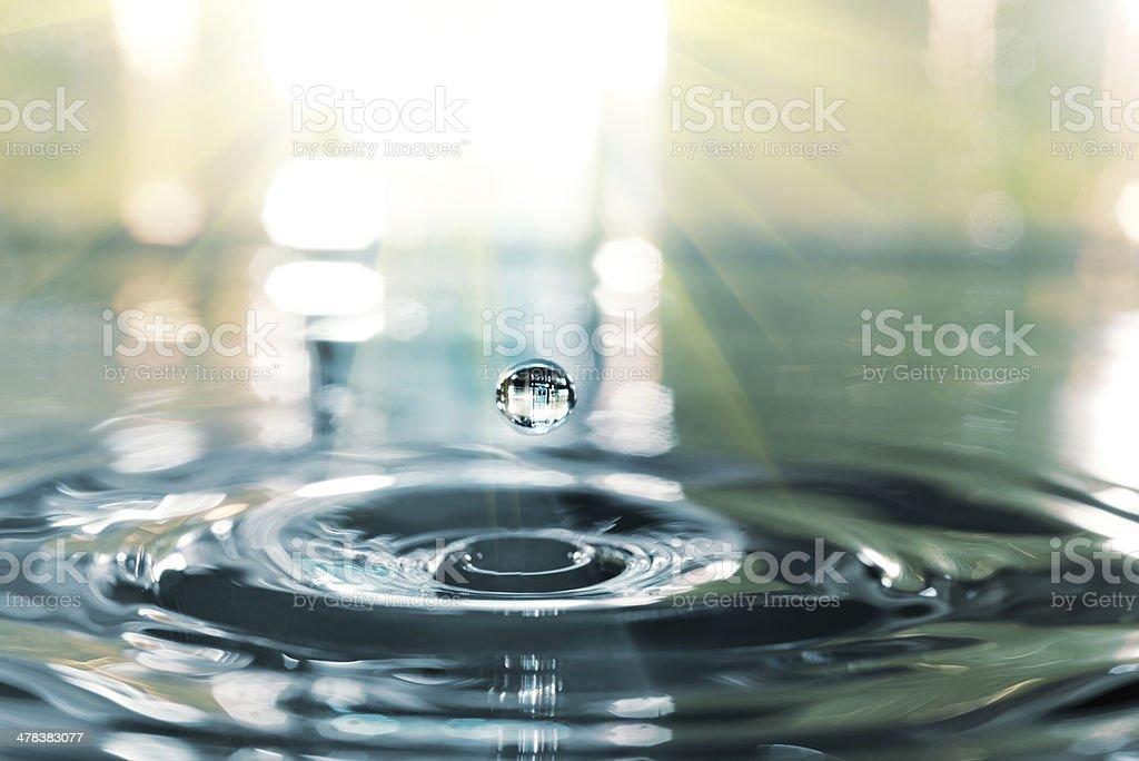 Closeup on water splash stock photo