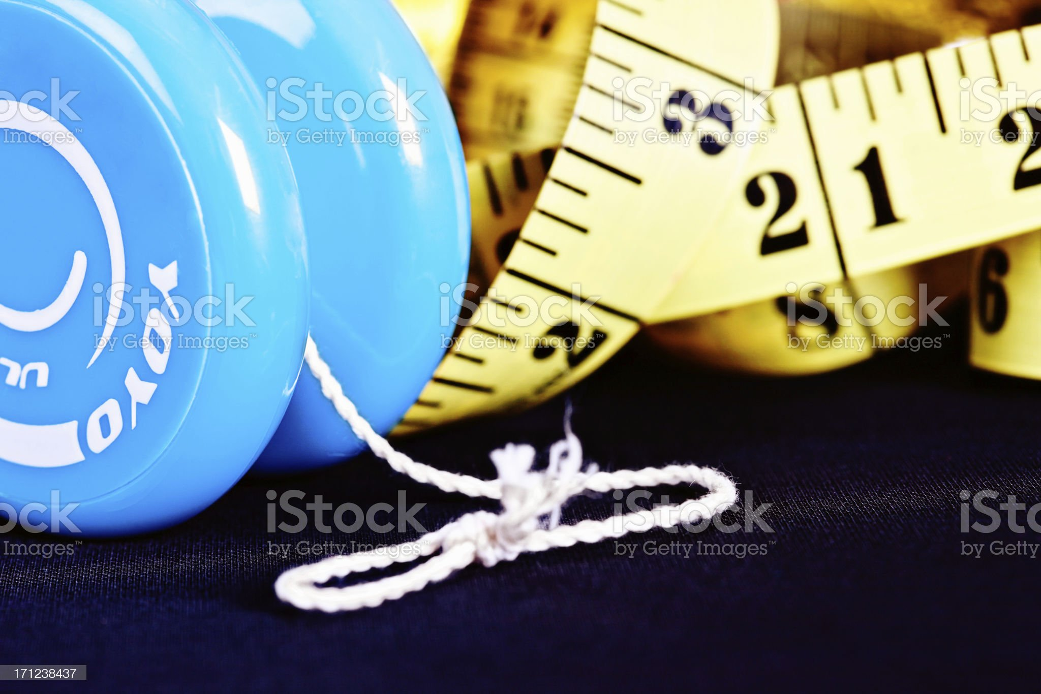 Close-up on yo-yo dieting: a poor method of weight control royalty-free stock photo