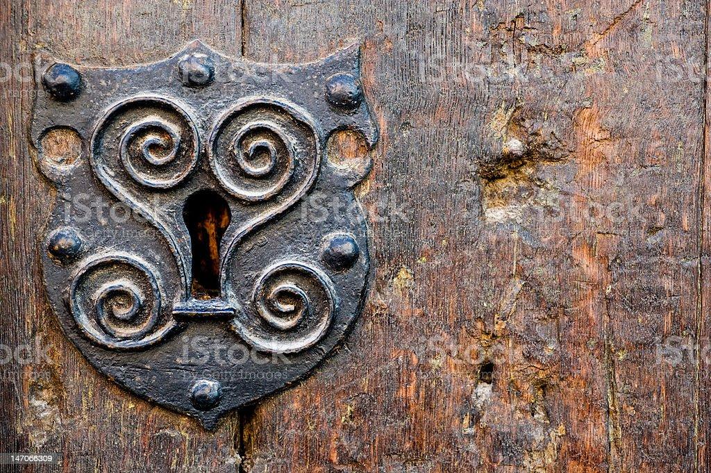 Closeup oof old door royalty-free stock photo