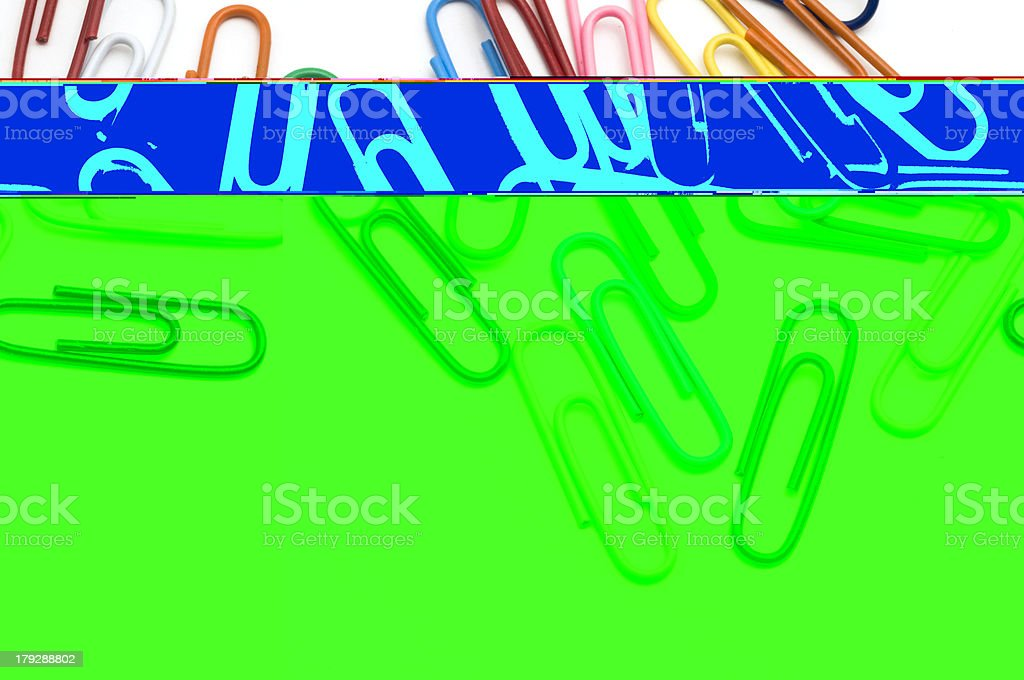 Closeup Paper Clips royalty-free stock photo