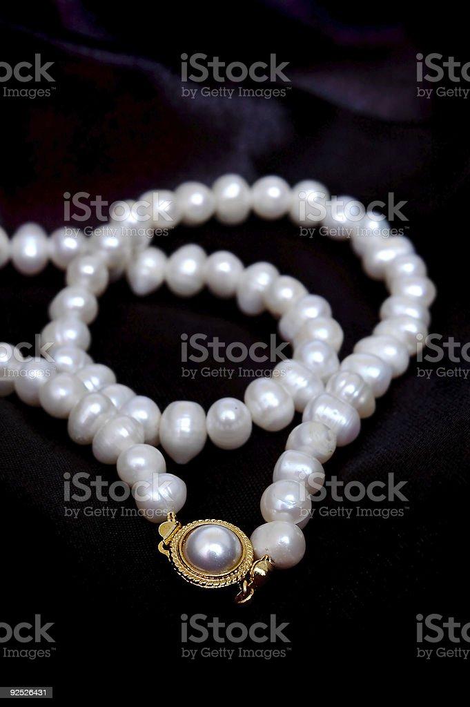 Closeup pearl royalty-free stock photo