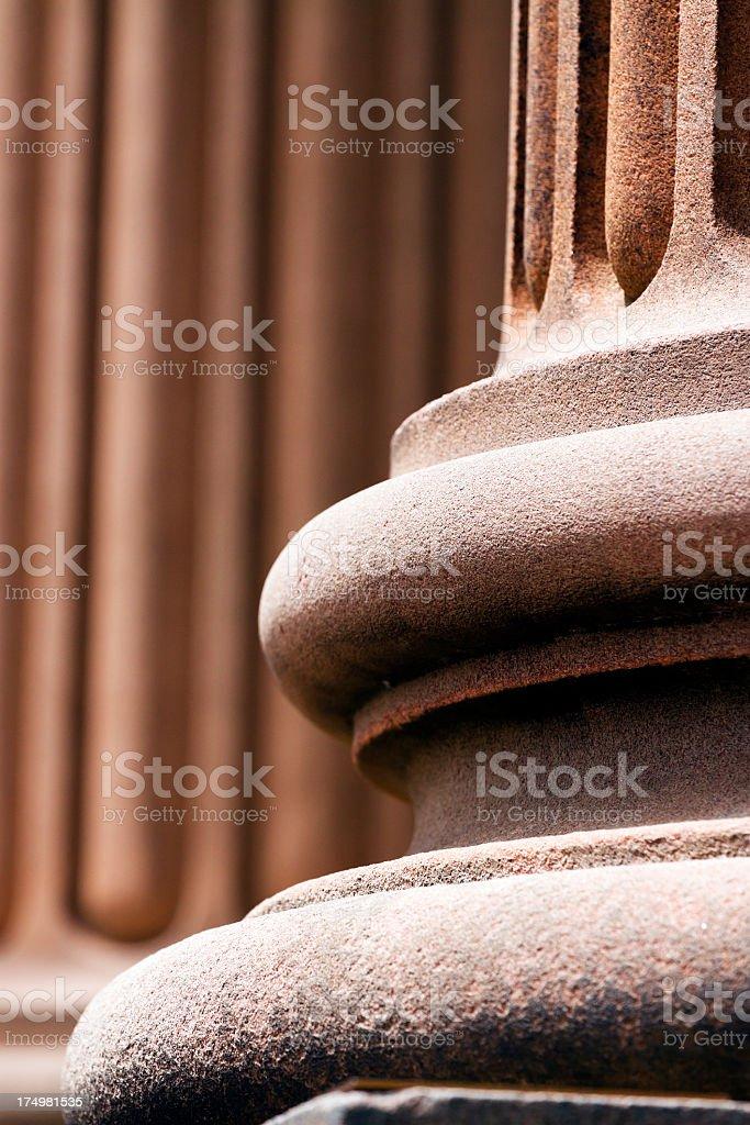 Closeup pedestal of classical column royalty-free stock photo
