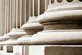 Closeup pedestals of classical columns