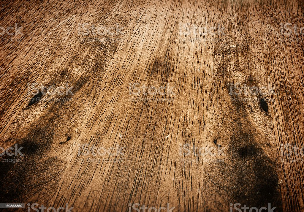 Close-up perspective of wooden table tap stock photo