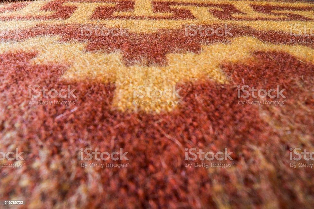 Close-up peruvian blanket stock photo