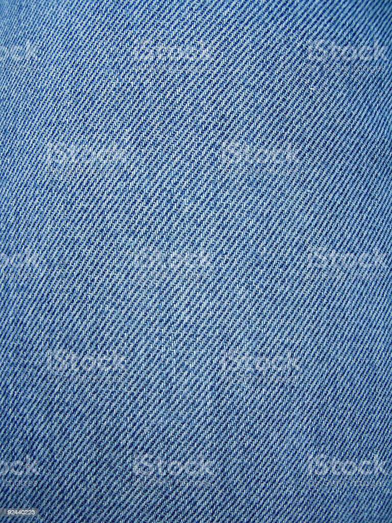 Close-up photo of blue jean texture stock photo