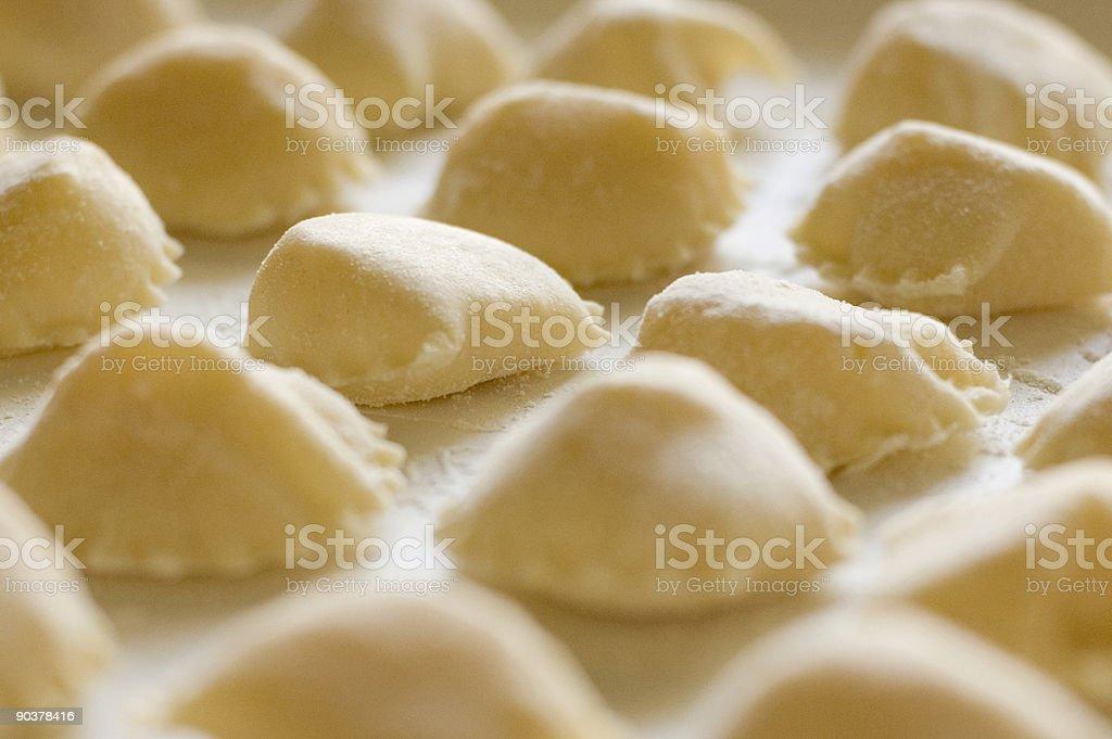 Close-up photo of freshly made pasta stock photo