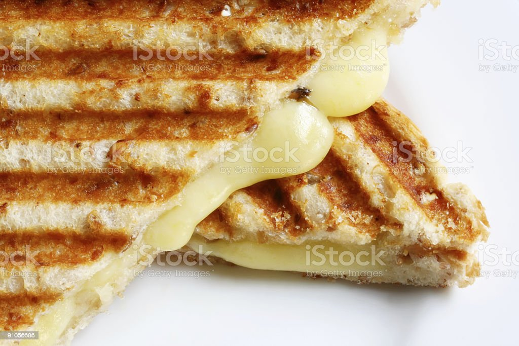 Close-up photo of grilled cheese sandwich stock photo