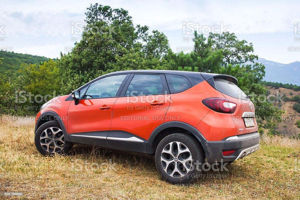 Closeup photo of Renault Kaptur car stock photo
