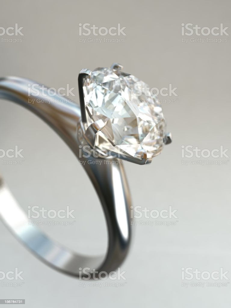 Close-up photograph of a diamond ring royalty-free stock photo
