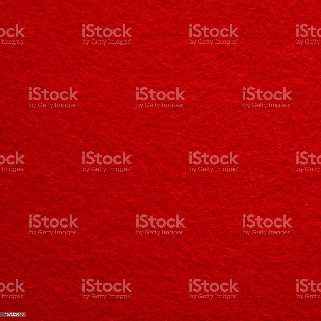 Close-up photograph of bright red felt stock photo