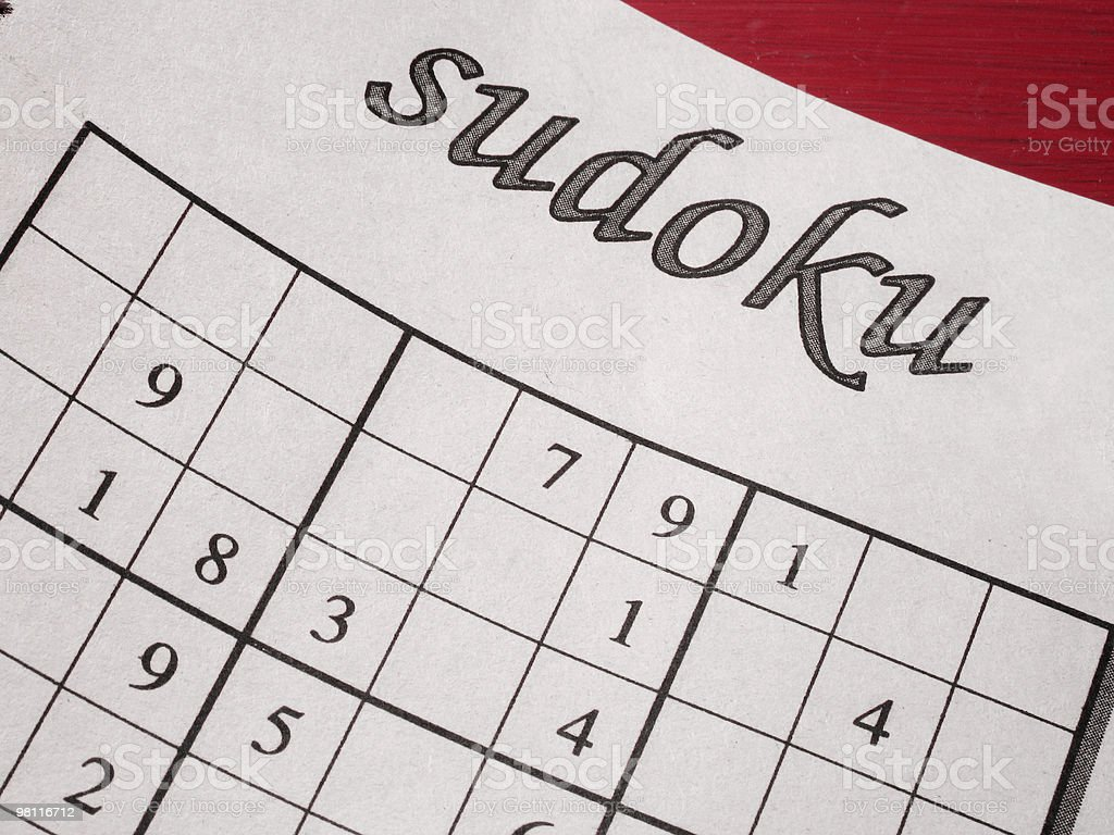 Close-up picture of sudoku game on paper unfilled stock photo