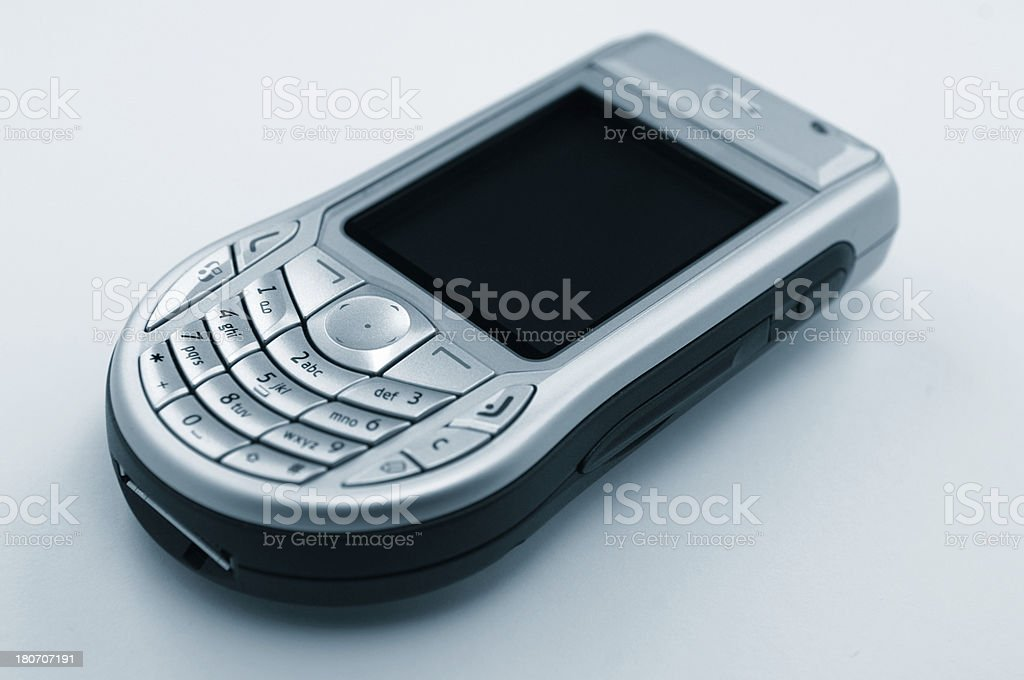 Close-up picture of the old mobile phone royalty-free stock photo