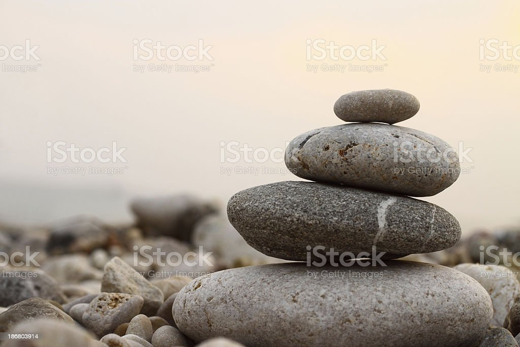 Close-up picture of zen stones stock photo