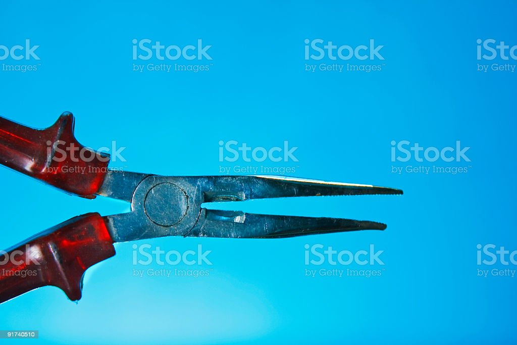 Close-up pliers stock photo