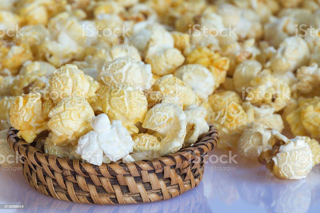 Closeup Popcorn stock photo