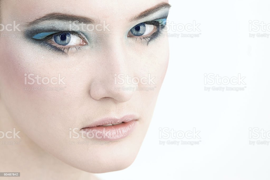 Close-up portrait of a beautiful young woman stock photo