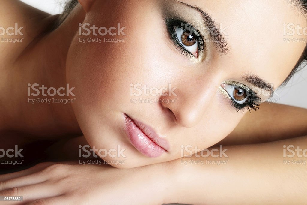 Close-up portrait of a female model royalty-free stock photo