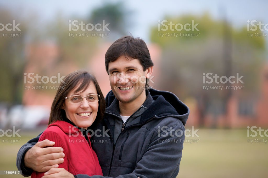 Closeup portrait of a happy romantic couple royalty-free stock photo