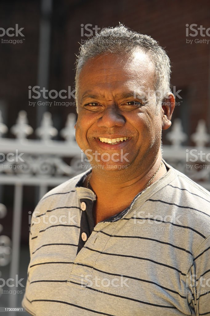 Close-up portrait of a man smiling royalty-free stock photo