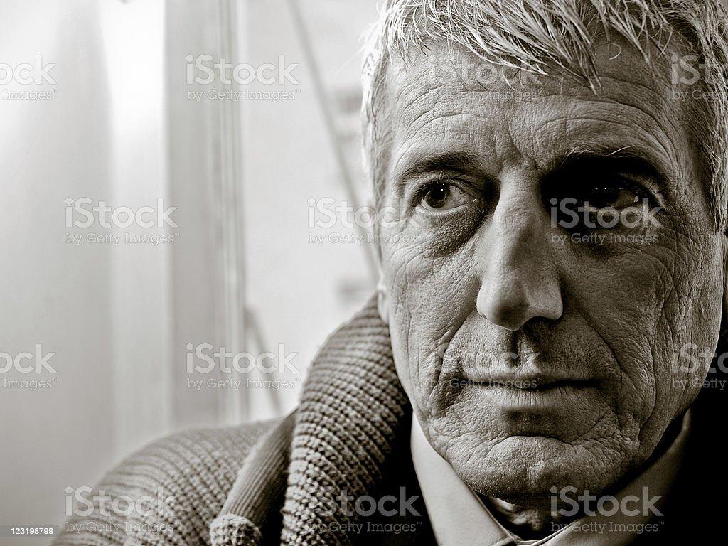Closeup portrait of a senior businessman royalty-free stock photo