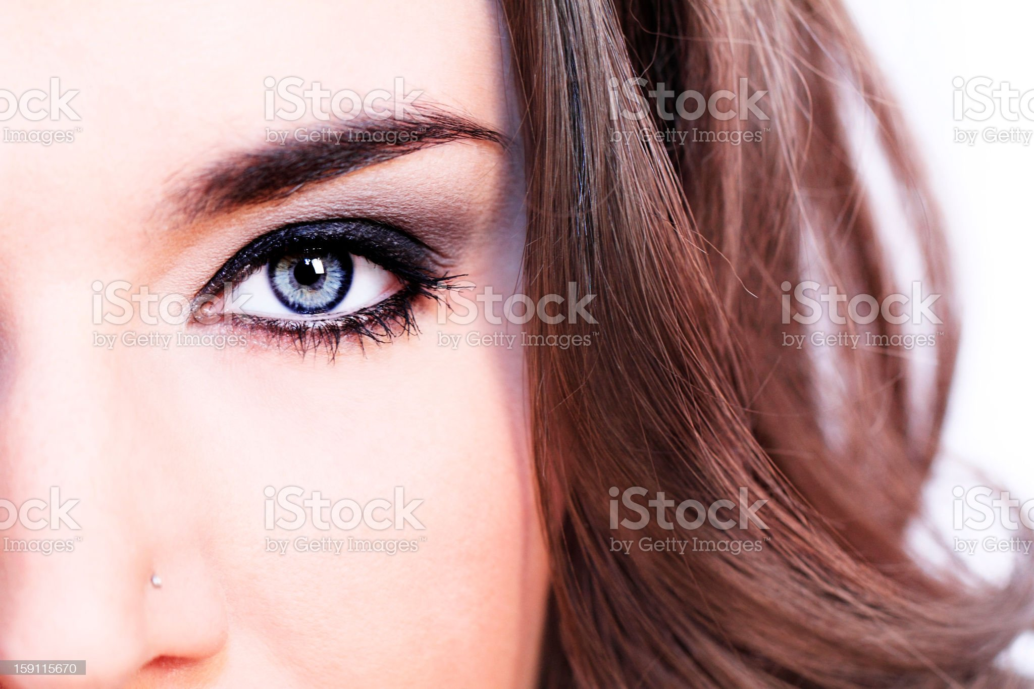 A close-up portrait of a woman royalty-free stock photo