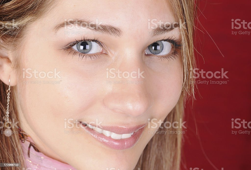 Close-up Portrait of a Young Woman stock photo