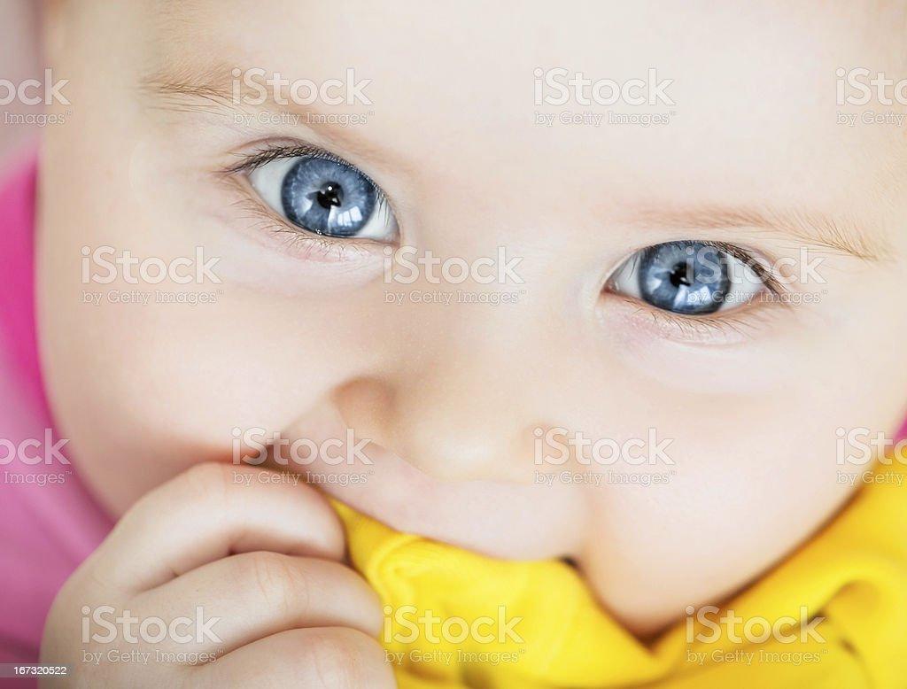 closeup portrait of beautiful baby royalty-free stock photo