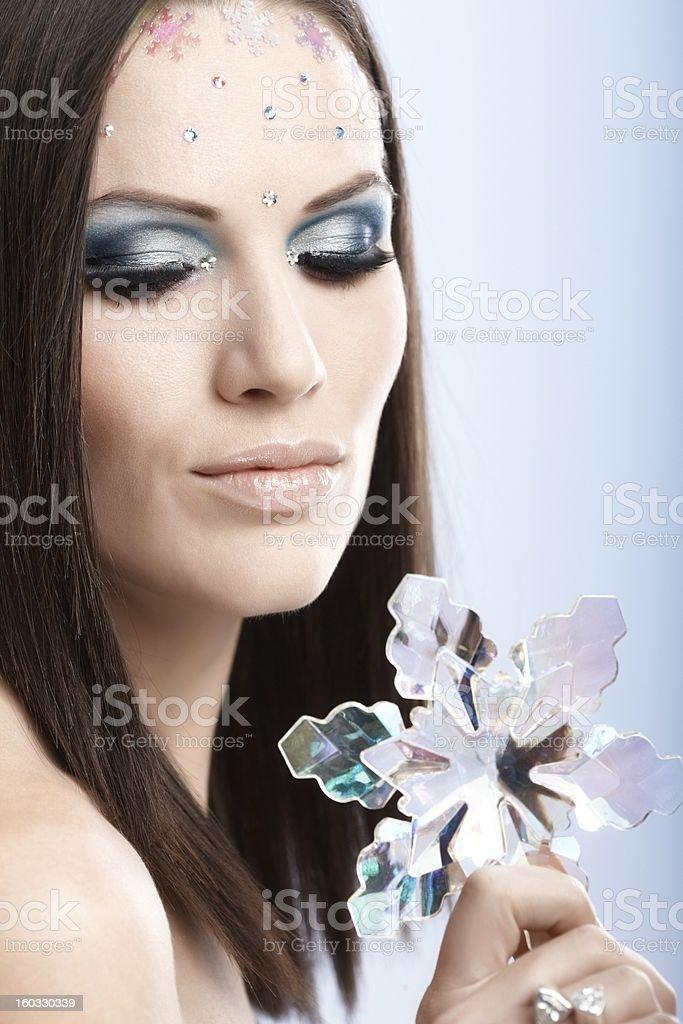 Closeup portrait of beautiful model royalty-free stock photo