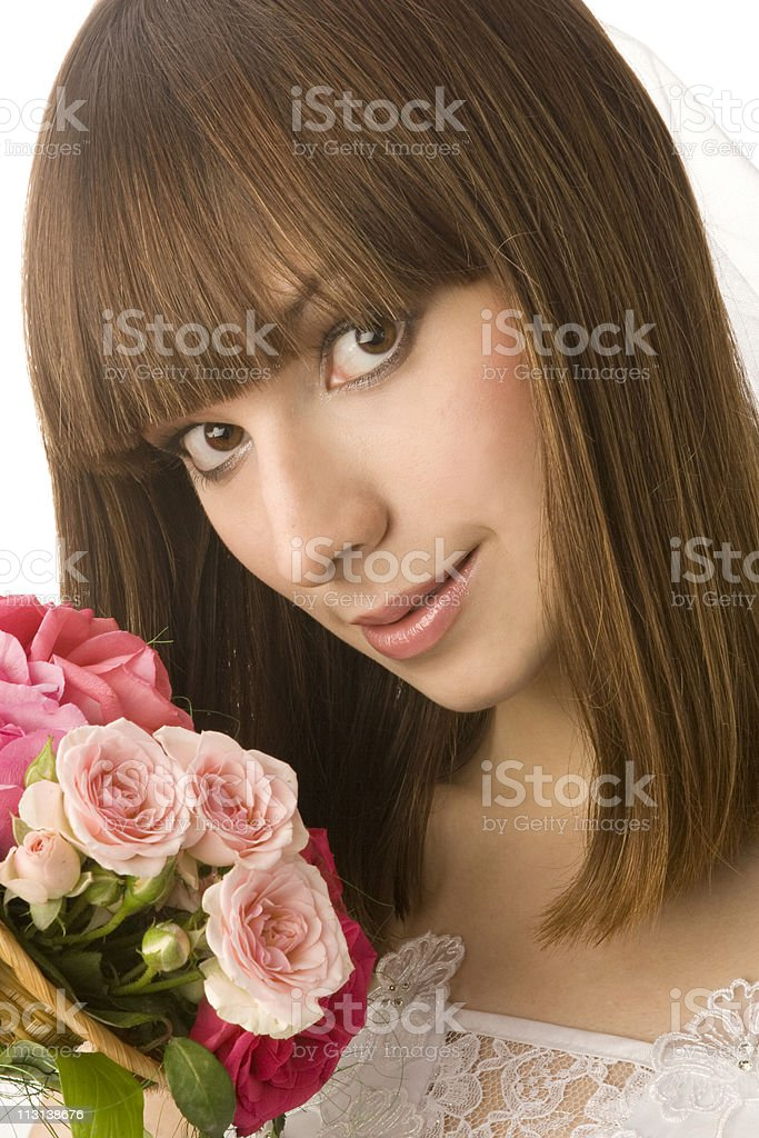 Close-up portrait of bride. royalty-free stock photo