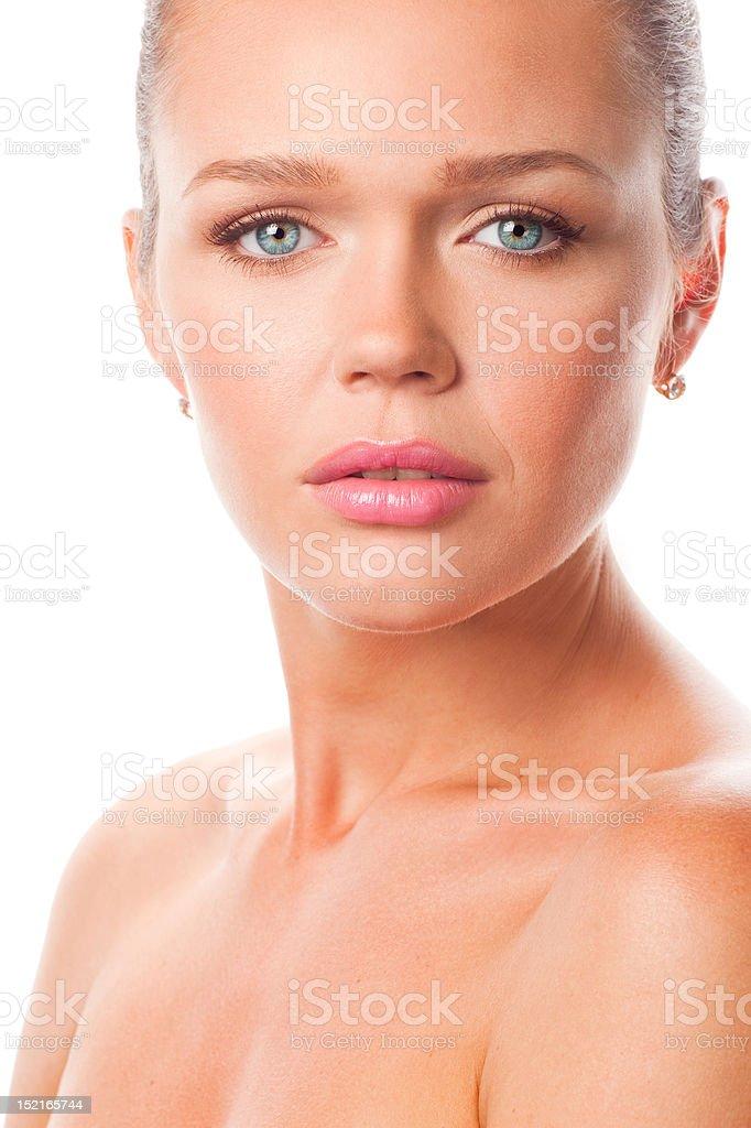 portrait de femme gros plan photo libre de droits