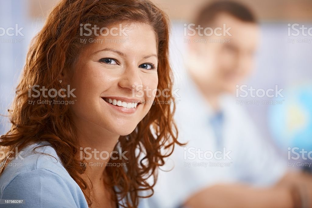 Close-up portrait of female student royalty-free stock photo