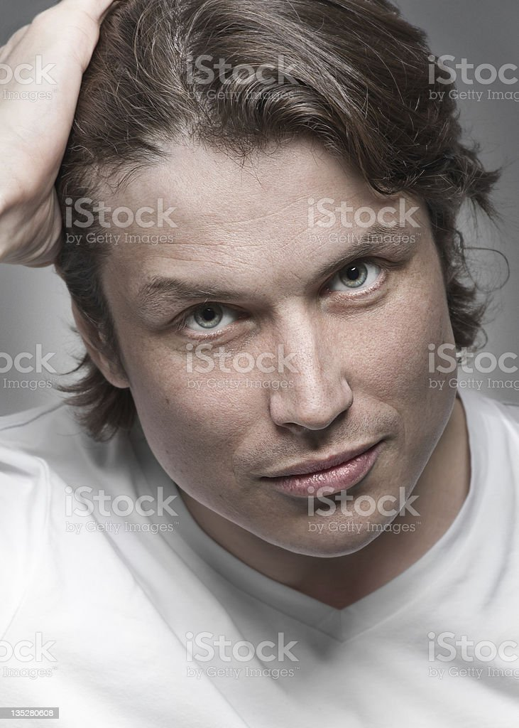 Close-up portrait of handsome young man royalty-free stock photo
