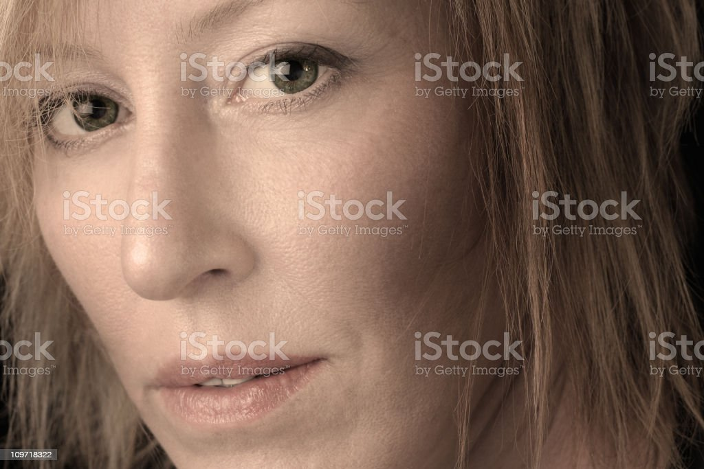 Close-up Portrait of Mature Woman royalty-free stock photo