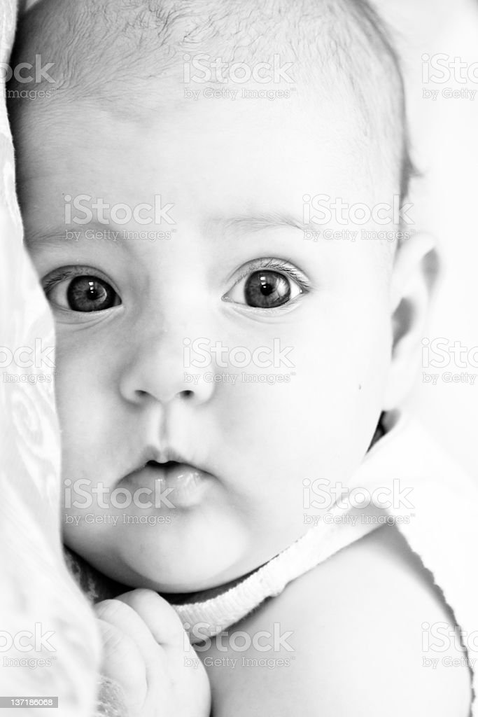 close-up portrait of newborn baby royalty-free stock photo
